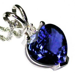 Jewelry - Sri Lankan Sapphire Jewelry & Diamond Pendant Whit